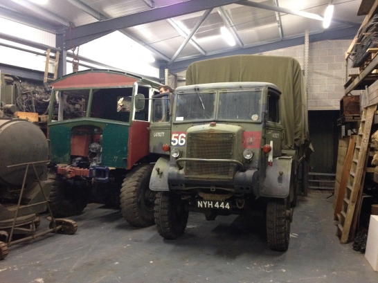 The stricken Bedford QL fits in alongside the AEC. The QL needs a bit of work but is a runner.