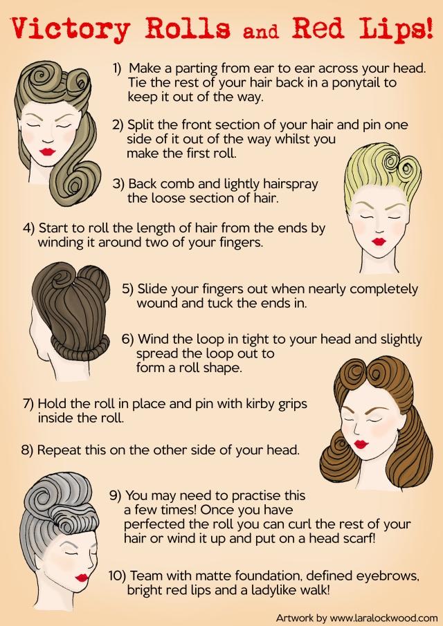 1940s hair and make-up by Lara Lockwood
